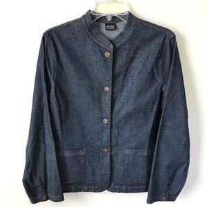Eileen Fisher Medium Snap Button Denim Jacket